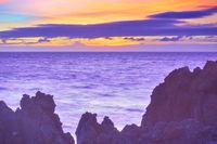 Colorful sunset over Atlantic Ocean