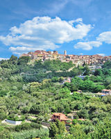 Village of Capoliveri on Island of Elba,Tuscany,mediterranean Sea,Italy