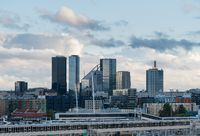 Modern skyline of Tallinn Estonia