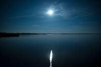 Full moon reflected in the water
