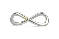 a chrome infinity sign isolated on white