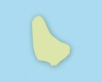 Karte von Barbados mit Schatten - Map of Barbados with shadow