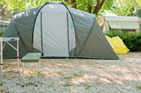 Camping tent in nature in summertime