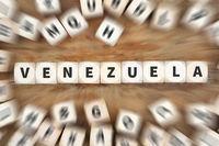 Venezuela Land Krise Reise Reisen Würfel Business Konzept