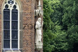 Heiligenfigur, Burgkapelle, Wasserburg Hülshoff bei Havixbeck, NRW