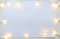 Christmas lights on gray table