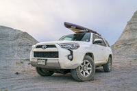 Toyota 4Runner SUV in Kanasas badlands