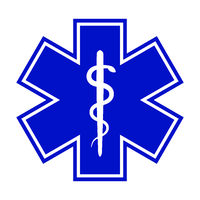 The Star of Life (with the staff of Asclepius)