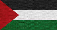 Fahne von Palästina auf altem Leinen - Flag of Palestine on old linen