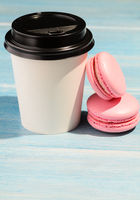 Hot drink and macaroons