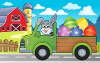 Truck with Easter eggs theme image 2