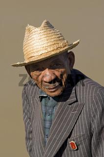 Portraet, Alter Madagasse, Madagaskar, Afrika, old man, Madagascar, Africa