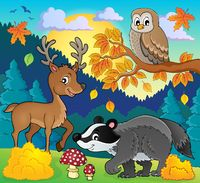 Forest wildlife theme image 3 - picture illustration.