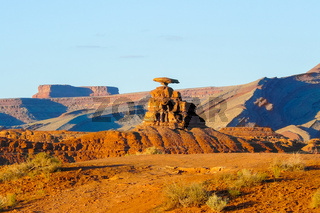 Mexican hat rock Monument Valley