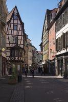 Colmar, Pedestrianized Rue des Marchands