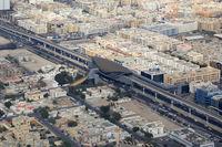 Dubai ADCB Metro Haltestelle Luftaufnahme Luftbild