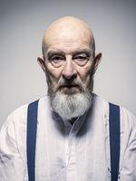 strange looking older man portrait