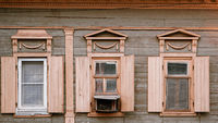 Astrakhan,Russia, 24 May 2016: Old wooden house in Old City Center of Astrakhan-city