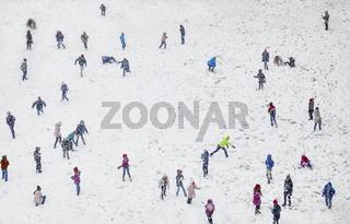 Snow Winter Children Playing