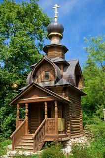 Orthodox wooden chapel near St. Sava's Spring