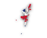 Karte und Fahne der Shetland Inseln - Map and flag of Shetland Islands
