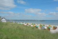 Beach of Scharbeutz at baltic Sea,Schleswig-Holstein,Germany