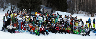 Group photo competitors at Ski and Boarder Cross