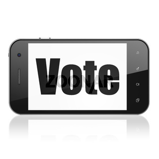 Politics concept: Smartphone with Vote on display