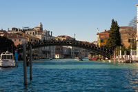 Accademia bridge located at Venice, Italy