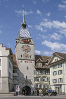Zyt tower in Zug at lake