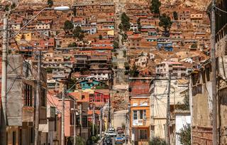 Dense architecture of Oruro