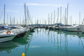 Yachthafen von Punta Ala, Toskana, Maremma-Küste, Italien