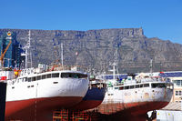 t the port of Cape Town, South Africa