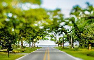 entrance to the beach to gulf of mexico coast near gulfport