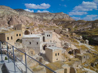 village in mountain landscape, cappadocia, Turkey