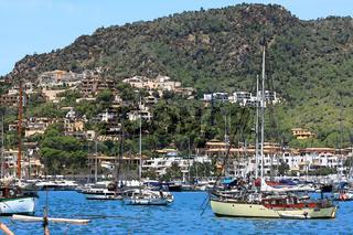 Bucht am Hafen von Port Andratx