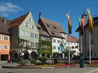 Market Place and City hall in Isny im Allgäu