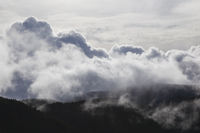 Dramatic cloud formation in the mountains - texture / background / motif