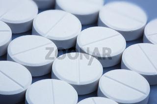 Mehrere Tabletten, Nahaufnahme