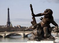 Paris, Blick auf Eiffelturm
