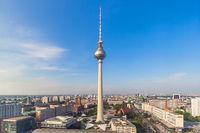 Berlin Skyline Fernsehturm Alexanderplatz Deutschland Stadt Straße