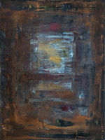 rusty abstract art on canvas