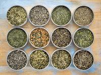 loose leaf  green tea collection