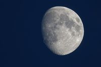 waxing moon in the evening