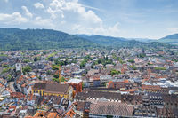 an aerial view over Freiburg