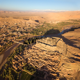 Aerial view on Ait Ben Haddou in Morocco