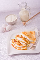 egg cake with vanillaquark