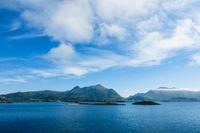 Küste auf den Lofoten in Norwegen