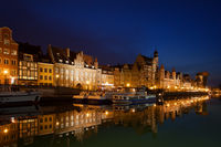 City of Gdansk night cityscape in Poland