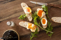 Bread soldiers with eggs